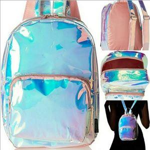 Mini Iridescent Holographic Waterproof Backpack